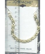 """Jordache Goldtone Bars Pattern Chain 16"""" Necklace NEW 30 Days to Pay! - $3.59"""
