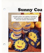 Sunny Coasters & Gum Ball Machine Eyeglass Case Plastic Canvas Pattern NEW - $0.90