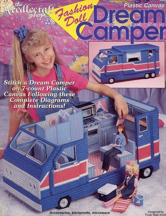 Fashion Doll Dream Camper for Barbie Plastic Canvas Pattern Booklet