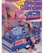 Fashion Doll Dream Camper for Barbie Plastic Canvas Pattern Booklet - $26.97