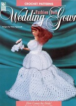 Fashion Doll Wedding Gown Bride HOWB Crochet Pattern - 30 Days To Shop & Pay! - $4.02