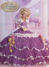 Miss May 1992 Cotillion Barbie Doll Outfit Crochet Pattern Instructions Leaflet - $2.67