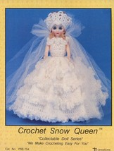 "Snow Queen 15"" Fashion Doll Outfit Td Creations Crochet PATTERN/INSTRUCTIONS - $2.67"