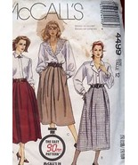 Misses Skirts SZ 12 McCall's Sewing Pattern 4499 Uncut - $2.22