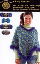 4 Easy Ponchos Knit or Crochet Patterns NEW -30 Days To Shop & Pay! - $2.67