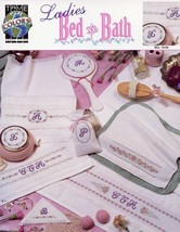 Ladies Bed & Bath Floral Borders Monograms NEW True Colors Cross Stitch ... - $1.32