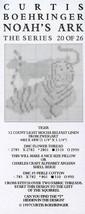 Tiger Curtis Boehringer Noah's Ark Series Cross Stitch Pattern Leaflet - $3.57