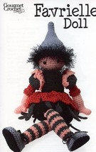 "22"" Favrielle Doll Gourmet Crochet Pattern Leaflet NEW - 30 Days To Shop... - $8.07"