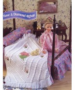 Rose & Diamond Afghan fits Barbie Doll Crochet PATTERN/Instructions Leaflet - $2.22