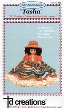 "Tasha 13""  Bed Doll Outfit Crochet Pattern NEW RARE  - 30 Days To Shop & Pay! - $6.27"