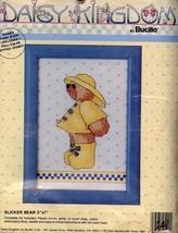 Slicker Teddy Bear NEW Bucilla Cross Stitch Kit - 30 Days to Shop & Pay! - $7.17