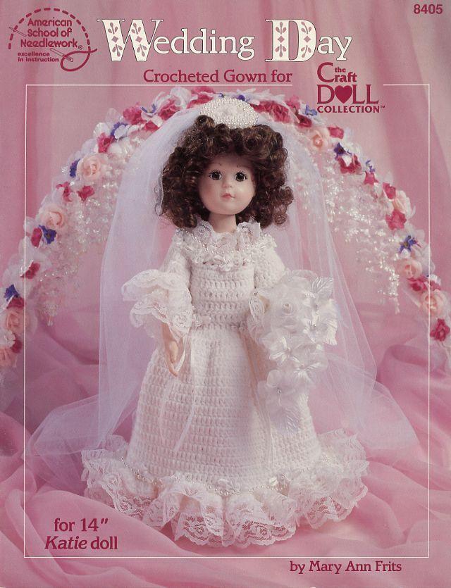 """Darling Dresses for 11.5/"""" Porcelain Look Dolls 5 Designs Crochet PATTERN Leaflet"""