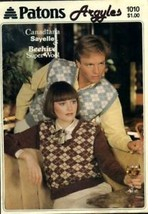 Patons Argyles Sweaters Knitting Pattern Leaflet #1010 - $1.77