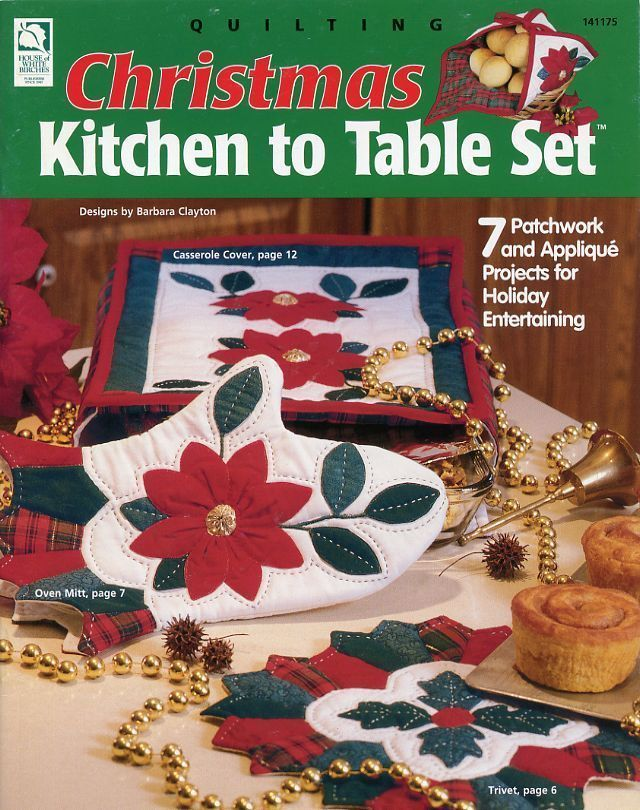 Primary image for Christmas Kitchen to Table Set HoWB Quilting Pattern NEW - 30 Days to Pay!
