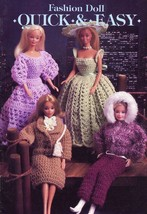 Fashion Doll Quick & Easy Outfits Annie's Barbie Crochet Pattern Leaflet RARE - $19.77