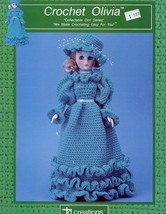 "Olivia 15"" Fashion Doll Outfit Td Creations Crochet PATTERN - 30 Days To Pay! - $3.57"