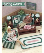 Living Room fits Barbie Annie's Plastic Canvas Pattern/Instructions Leaflet - $8.07