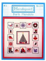 Mendlepoint Christmas Designs Barb Mendola Leaflet 1 Cross Stitch PATTER... - $1.77