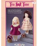 """Tea Time Dress Crochet PATTERN Fibre Craft for 11.5"""" Porcelain Look Doll Leaflet - $2.22"""