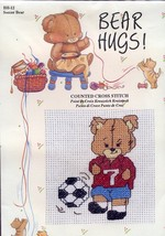 Soccer Bear Hugs Graphworks Cross Stitch Kit NEW 30 Days to Shop & Pay! - $6.27