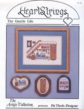 An item in the Crafts category: The Gentle Life Home Hearth Happiness HeartStrings Cross Stitch Pattern NEW