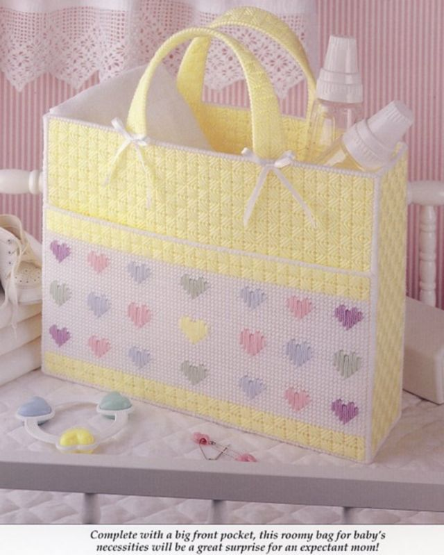 Heartwarming Baby Tote & Get Well Plastic Canvas Pattern Leaflet NEW