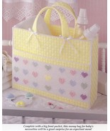 Heartwarming Baby Tote & Get Well Plastic Canvas Pattern Leaflet NEW - $0.90