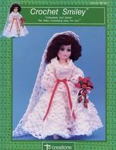 "Crochet Smiley Bride 15"" Fashion Doll Outfit Td Creations PATTERN/INSTRU... - $2.67"