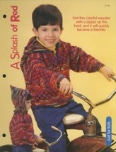 Splash of Red Child's Sweater House of White Birches Knitting Pattern Le... - $1.77