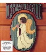 Angel of Joy Door Sign & Starry Santa Pin Christmas Plastic Canvas Pattern - $1.77