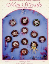 Designs For Vines Mini Wreaths #9 Cross Stitch Pattern Leaflet - 30 Days... - $2.67