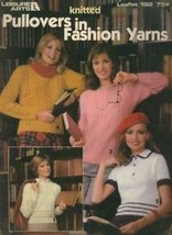 Pullovers in Fashion Yarns Women's Sweaters LA182 Knitting Pattern Leaflet - $2.22