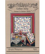 Simple Pleasures Quilt Table Runner Doll Cotton Way Pattern NEW 30 Days ... - $7.17
