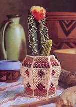 Cactus & Vase Annie's Plastic Canvas Pattern Leaflet - 30 Days to Shop &... - $3.57