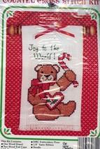 Christmas Teddy Bear Joy to the World Wall Hanging New Berlin Cross Stit... - $2.67
