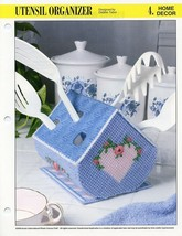 Kitchen Utensil Organizer Annie's Plastic Canvas Pattern 30 Days to Shop... - $3.57