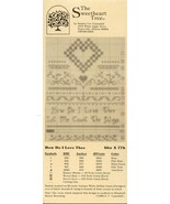 How Do I Love Thee Sweetheart Tree Cross Stitch Pattern Leaflet NEW - $2.67