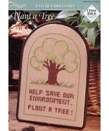 Plant A Tree Save Environment Cross Stitch Pattern Leaflet NEW - $1.32