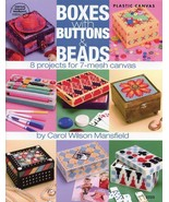 Boxes with Buttons & Beads 8 Projects Plastic Canvas PATTERN/INSTRUCTION... - $4.47