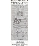 July Barefoot Angels Curtis Boehringer Cross Stitch Pattern NEW - 30 Day... - $2.22