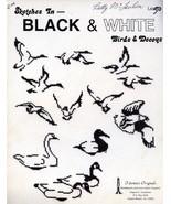 Sketches in Black & White Birds & Decoys Tidewater Cross Stitch Pattern ... - $11.67
