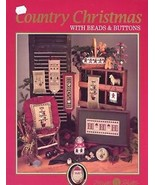 Country Christmas with Beads & Buttons Cross Stitch Pattern Leaflet - $2.67