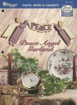 Peace Angel Garland Christmas 7 Mesh TNS Plastic Canvas Pattern Leaflet NEW - $2.67