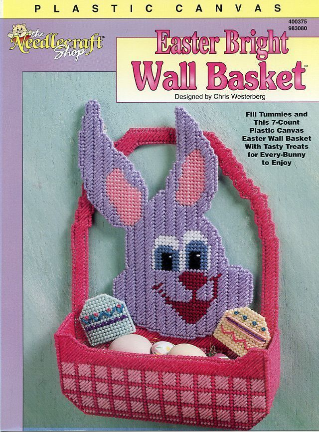 Easter Bright Wall Basket Bunny Plastic Canvas Pattern NEW RARE 30 Days to Pay!