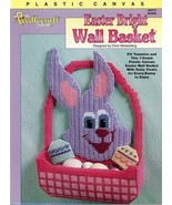 Easter Bright Wall Basket Bunny Plastic Canvas Pattern NEW RARE 30 Days ... - $4.02