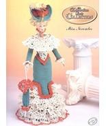 Miss November 1996 Edwardian Barbie Doll Outfit Annie's Crochet Pattern Leaflet - $3.57