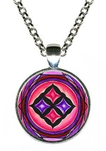 Adinkra Eban Sword of War for Love, Safety, Security Silver Pendant - $14.95