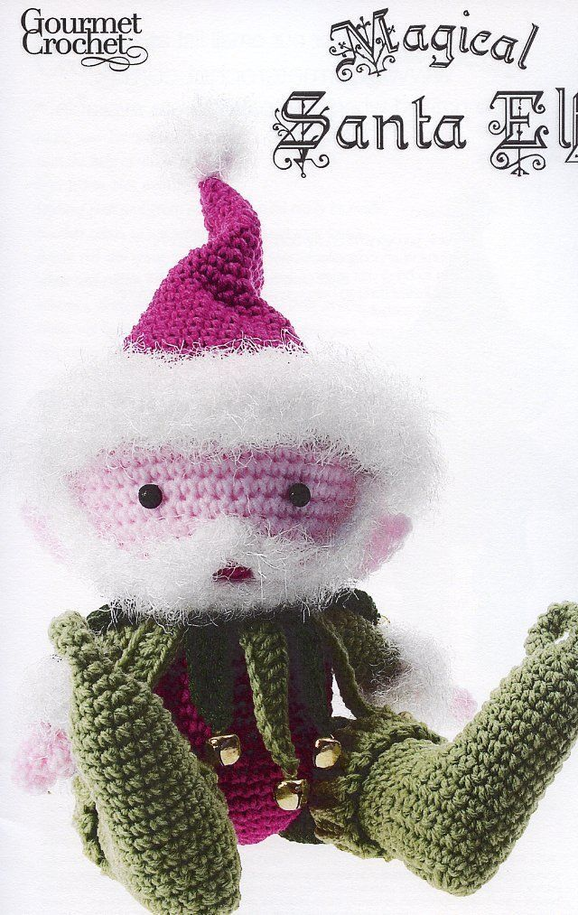 "Primary image for Magical Santa Elf 17"" Tall Gourmet Crochet Pattern Booklet NEW"