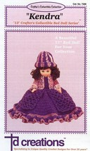 "Kendra 13""  Bed Doll Outfit Crochet Pattern NEW RARE - 30 Days To Shop & Pay! - $6.27"
