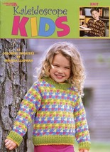 Kaleidoscope Kids 14 Sweaters (SZ 6-12) LA3260 Knitting PATTERN Booklet - $4.02